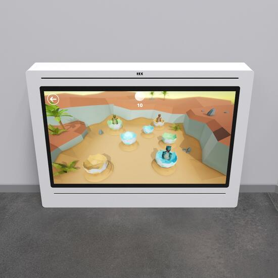 Op deze afbeelding staat een interactief speelsysteem Delta 65 inch