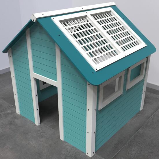 Op deze afbeelding staat een speelhuis formaat | IKC speelhuisjes