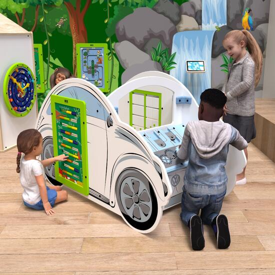 This image shows a play system VW beetle