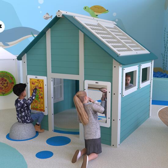 This image shows playhouse play cabin