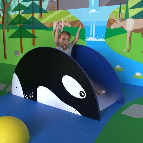 Op deze afbeeldingen ziet u speelsysteem Glijbaan Orca slide