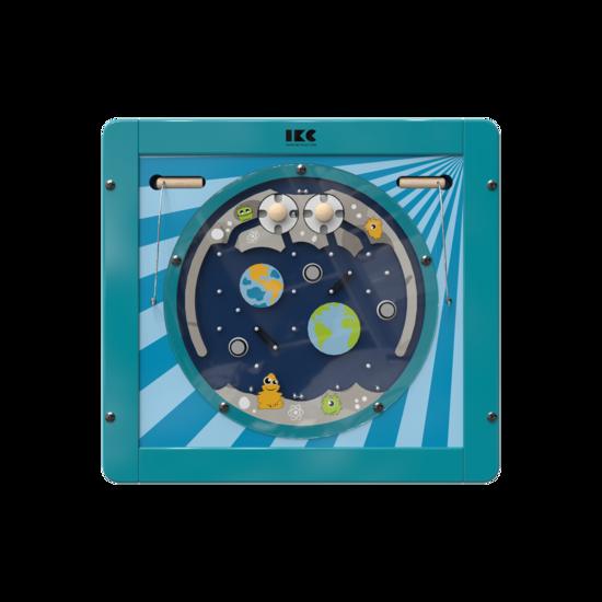 Gebruik de magneten en de draaischijven om de ballen te verplaatsen | IKC wandspellen