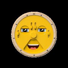 Speelwiel voor aan de wand voor het uiten van emoties en het uitbeelden van gezichtsuitdrukkingen